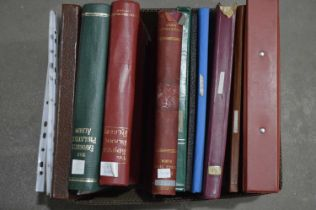 Mostly European stamp in stock books and leaves,