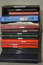 World stamp stock books,