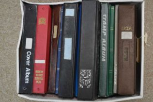 A selection of World stamped stock books,