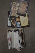 A collection of Royal Mint books of stamps,