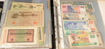 Foreign banknotes various