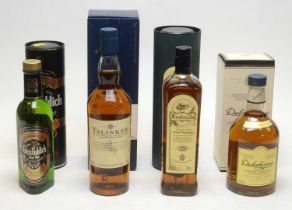 Dalwhinnie, Talisker, Bushmills and Glenfiddich Whisky.
