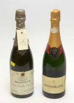 Bollinger Special Cuvee; and Bollinger Extra Quality Very Dry.