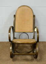 An early 20th Century Thonet style rocking chair.