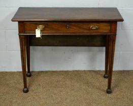 A 19th Century mahogany side table.