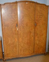 20th Century burr walnut veneered bedroom suite