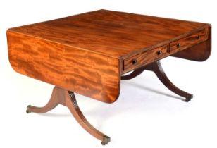 Late 19th/early 20th Century mahogany sofa table