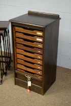 Early 20th C tambour filing cabinet