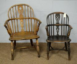 Windsor chair; and a child's Windsor chair.