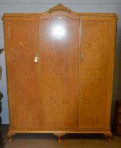 Early 20th Century hardwood corner cabinet