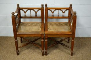 A pair of late 19th Century corner chairs.
