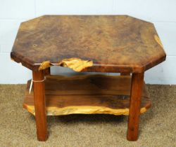 A 20th Century yew wood coffee table.