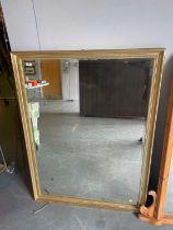 20th Century gilt wall mirror / Pair of gilt framed rectangular wall mirrors