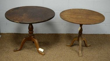 Two tripod tables.