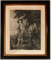 After Anthony van Dyke - engraving with etching