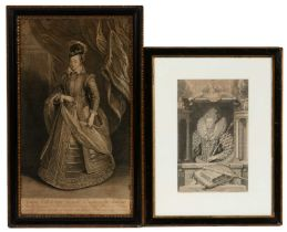 Two engravings of monarchs, including one after Peter Paul Rubens.