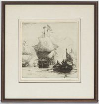 Norman Wilkinson - etching