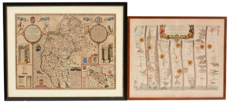 Two maps of Cumberland - prints.