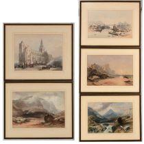British School, 19th Century - lithographs