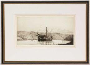 Harold Wyllie - etching