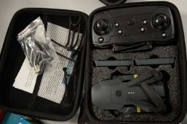 A cased collapsible drone