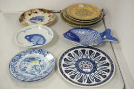 Selection of decorative plates and other items