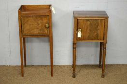 Two 19th C mahogany night cupboards.