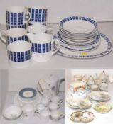 Susie Cooper tea and coffee ware along with Japanese eggshell coffee ware