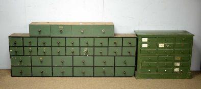 Three Vintage tool chests.