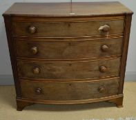 Early 19th Century mahogany bowfront chest of drawers.