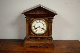 Early 20th century mahogany mantel clock by Junghans