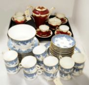 Royal Worcester part tea service and an Aynsley coffee service