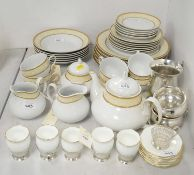 Five Coalport coffee cups and saucers in silver holders, and other items