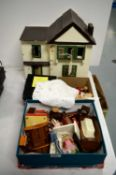Doll's house and doll's house furniture
