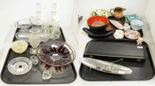 Selection of glassware, ceramics and other items