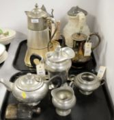 Selection of silver plated and pewter ware