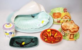 Selection of Poole and other ceramics.
