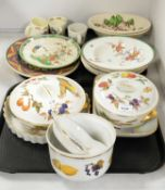 Selection of decorative ceramics including Royal Worcester, Doulton and others