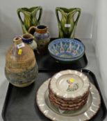 Selection of decorative ceramics including Doulton