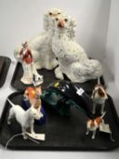 A selection of animal and other figures including Doulton and Beswick