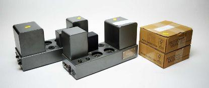 A pair of Quad II monobloc amplifiers.