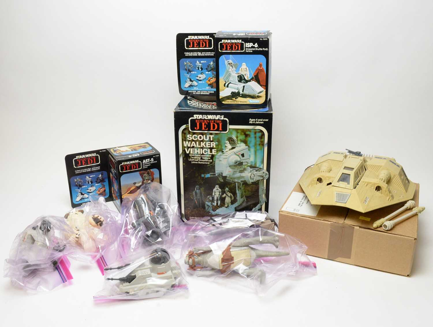 1970/80's boxed and unboxed Star Wars vehicles.