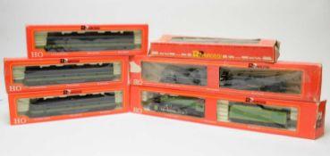 Six boxed Rivarossi HO-gauge trains.
