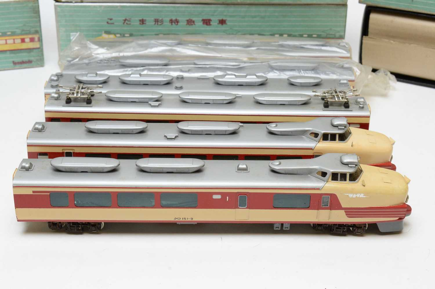 Boxed and unboxed Tenshodo Inter-City electric trains. - Image 2 of 3