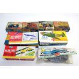 Airfix boxed model construction kits.