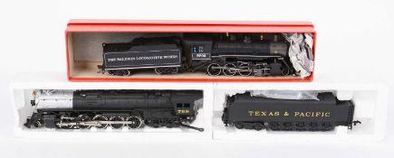 HO-gauge North American-Outline steam locomotives and tenders,