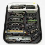 Eleven unboxed Bachmann, Mainline and Airfix etc. 00-gauge trains and tenders.