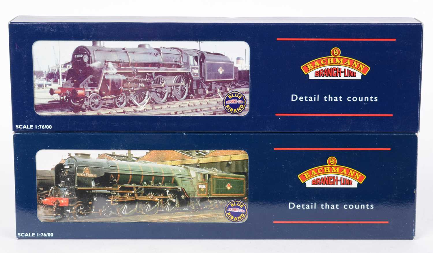 Two Bachmann 00-gauge steam locomotives and tenders