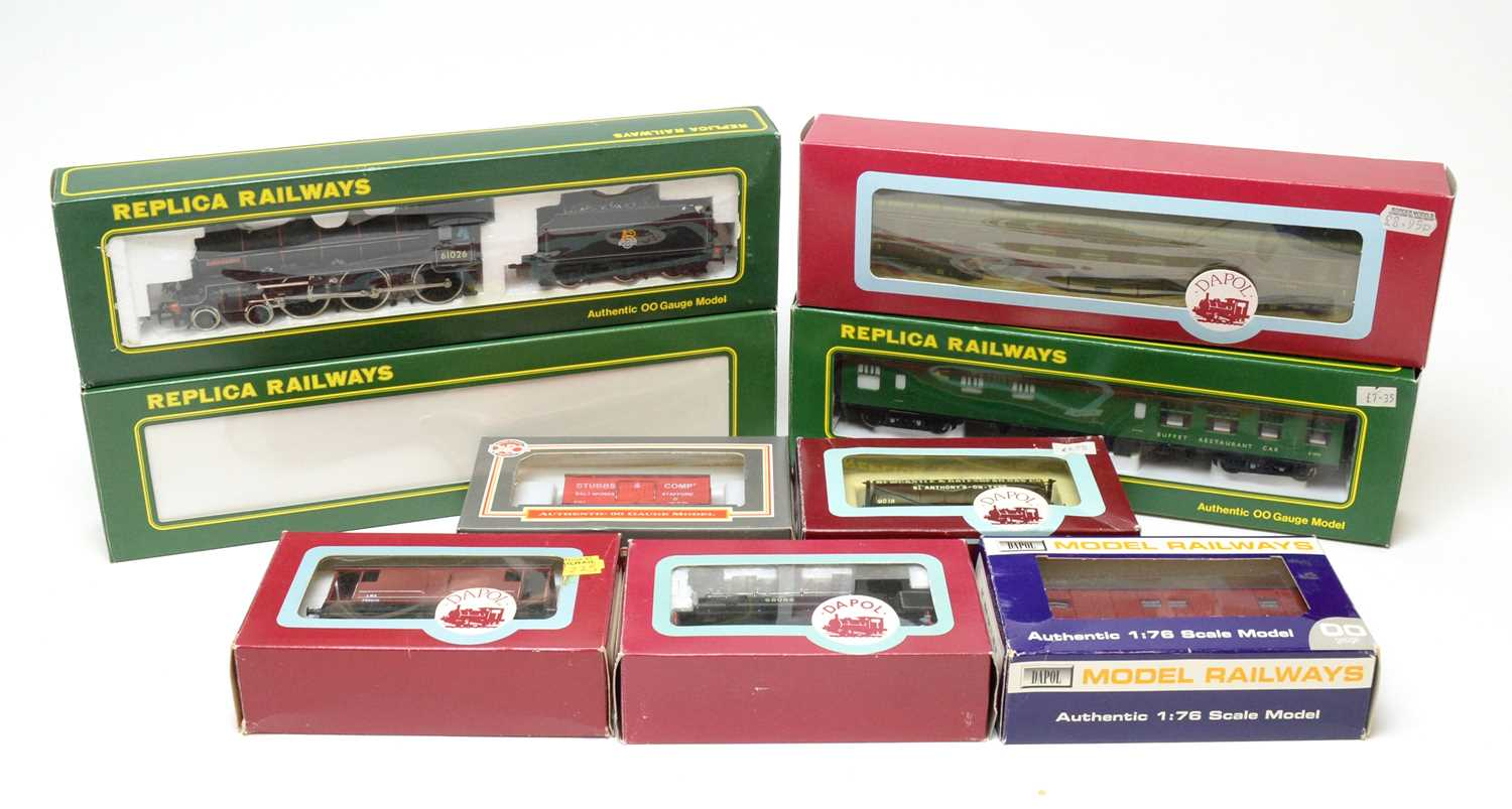 Boxed Dapol and Replica Railways locomotives and rolling stock.