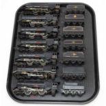 Seven 00-gauge unboxed 46201 Princess Elizabeth loco and tender.
